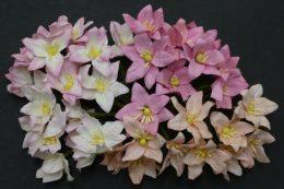 Лилии микс в розовых тонах