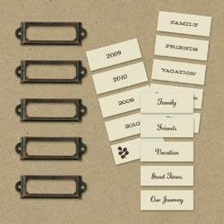 Декоративные металлические рамочки для скрапбукинга K&Company
