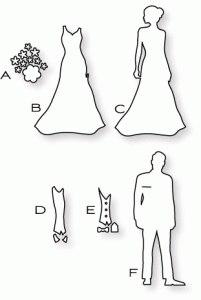 Ножи для скрапбукинга Жених и Невеста