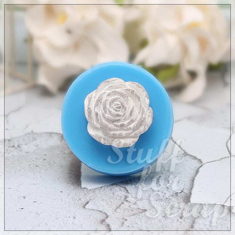 Цветок розы - 2 Силиконовый молд для скрапбукинга