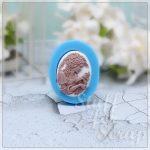 камея Дама с голубком Силиконовый молд для скрапбукинга