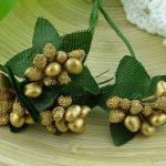 Ягодная гроздь золотые 3 шт.