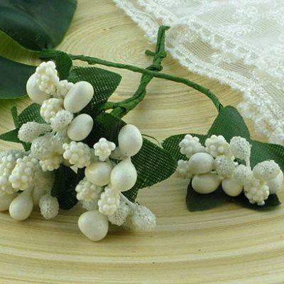 Ягодная гроздь белые 3 шт.