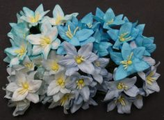 Лилии микс в голубых тонах