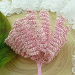 Тычинки спиральные розовые 3 шт