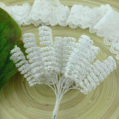Тычинки спиральные белые 3 шт