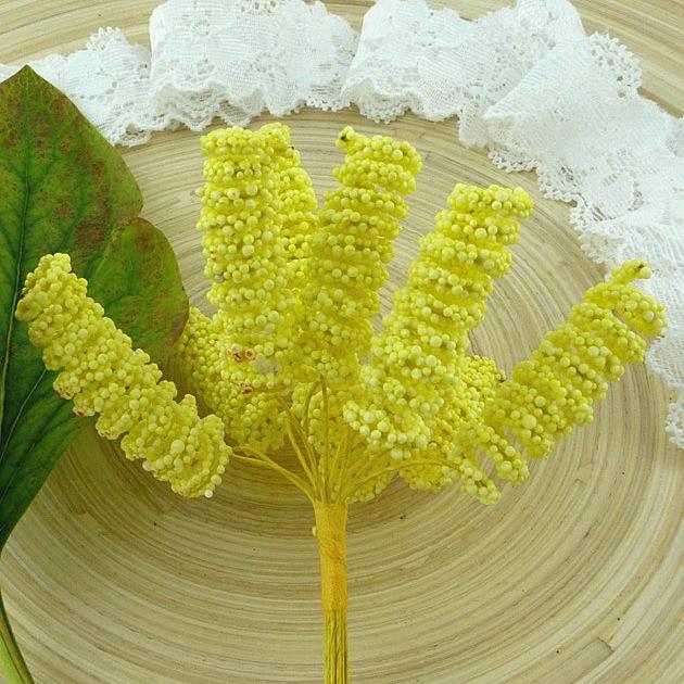 Тычинки спиральные желтые