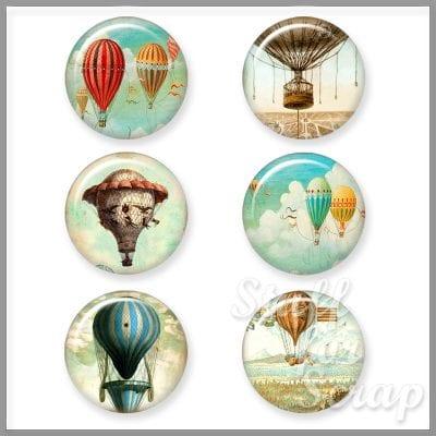 Фишки для скрапбукинга на воздушном шаре