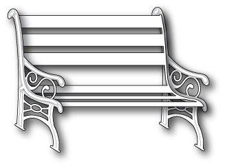 """Ножи PoppyStamps """"Madison Park Bench"""""""