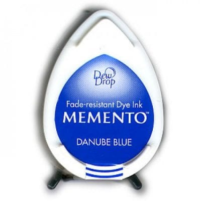 """Чернильная подушечка """"капля"""" Memento (TSUKINEKO), синий"""