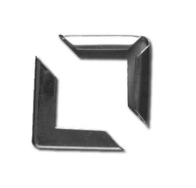 Уголки металлические декоративные, 19 мм, цвет серебро