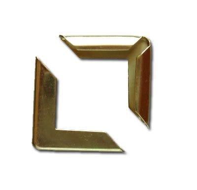 Уголки металлические декоративные, 22 мм, цвет золото