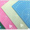 Коврик для резки, А4, двусторонний, голубой