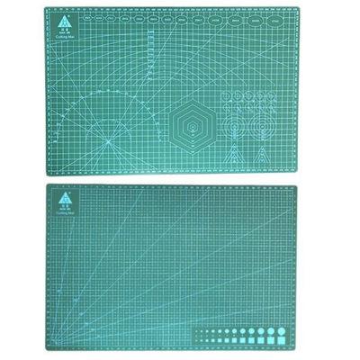 Коврик для резки, А3, двусторонний, зеленый