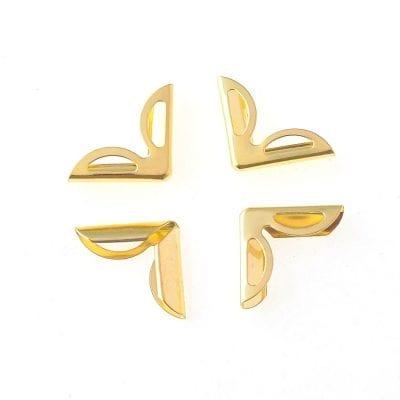 Уголки металлические с прорезьми 15 мм, цвет золото