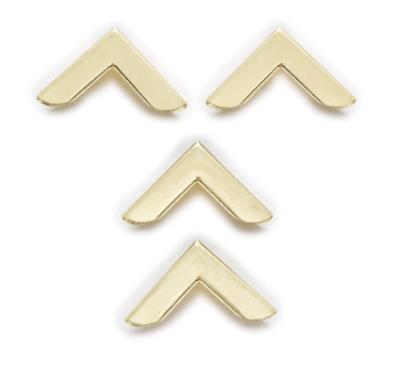 Уголки металлические декоративные, 19 мм, цвет золото