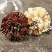 Набор декоративных тканевых цветов Carlotta