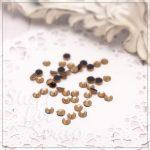Стразы HotFix, цвет светлый топаз, 6.5 mm