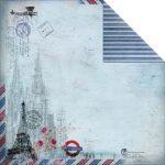 Бумага из коллекции Romantic Travel (FabScraps) 30х30 см