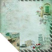 Бумага для скрапбукинга из коллекции Romantic Travel