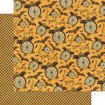Бумага для скрапбукинга из коллекции Steampunk Spells