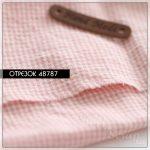 """Отрезок ткани """"Sweet Baby"""", розовый в клетку 2 мм, 1/6, хлопок"""