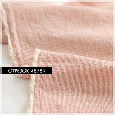 """Отрезок ткани """"Sweet Baby"""", розовый в полоску 1 мм, 1/6, хлопок"""