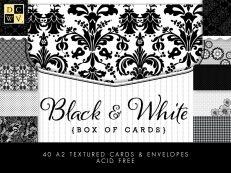 Заготовки для открыток Коллекция Black and White от DCWV для скрапбукинга