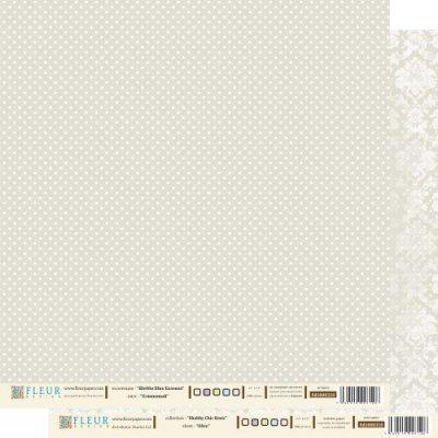 """Лист бумаги """"Оливковый"""", коллекция """"Шебби Шик Базовая"""", 30х30 см (Fleur design)"""