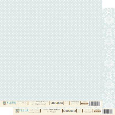 """Лист бумаги """"Морской зеленый"""", коллекция """"Шебби Шик Базовая"""", 30х30 см (Fleur design)"""
