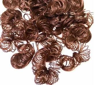 Волосы для куклы, кудрявые, коричневые, 14 гр.