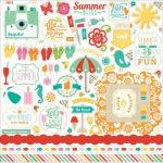 Наклейки для скрапбукинга ECHO PARK серии Summer Bliss