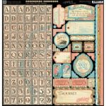 Наклейки алфавит для скрапбукинга Graphic 45 серии Come Away With Me