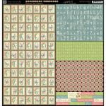 Наклейки алфавит для скрапбукинга Graphic 45 серии Botanical Tea