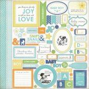 Наклейки для скрапбукинга Carta Bella серии Baby Mine для мальчика