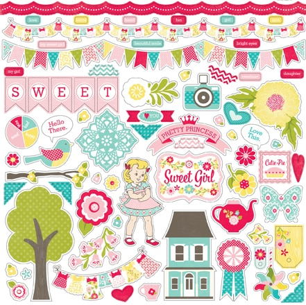 Наклейки для скрапбукинга ECHO PARK серии Sweet Girl