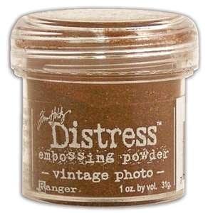 Пудра для влажного эмбоссинга для скрапбукинга Distress Vintage Photo от Ranger