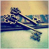 Металлические подвески шармы для скрапбукинга ключ