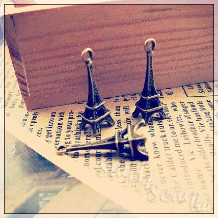 Металлические подвески шармы для скрапбукинга эйфелева башня