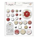 Набор декоративных брадс для скрапбукинга Teresa Collins новогодние