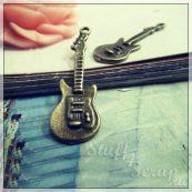 Металлические подвески шармы для скрапбукинга гитара