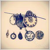 Металлические подвески шармы для скрапбукинга часы