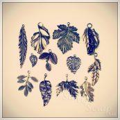 Металлические подвески шармы для скрапбукинга листья