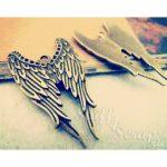 """Металлические подвески """"Крылья ангела"""", 38х12 мм, состаренная бронза, 1 шт"""