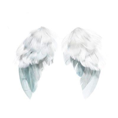 Крылья ангелов из перьев (Tilda), 3,5х6см, белые, 2шт
