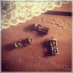 """Металлические подвески """"Песочные часы"""", 16x8 мм, состаренная бронза, 1 шт"""