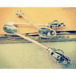 """Металлические подвески """"Винтажная ложка"""", 11х59 мм, состаренное серебро, 1 шт"""