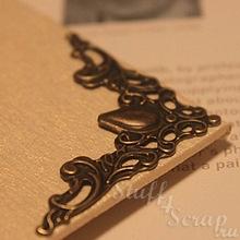 Уголки металлические декоративные, 40 мм, состаренная бронза, 1 шт.