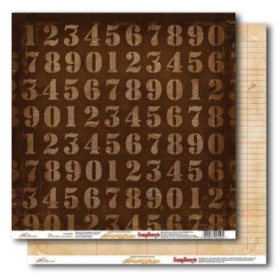 """Лист бумаги """"Юбилей"""", коллекция """"Волны памяти"""" (ScrapBerry's), 30х30 см"""