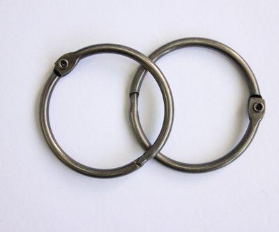 Кольца для альбома, 40 мм, серебро, 2 шт